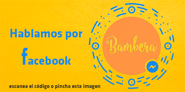 Contacta con Bambera por Messenger de facebook
