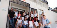 Pablo Ferrández con los alumnos en Vigo