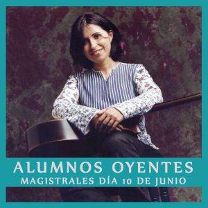 Plazas de oyente clases magistrales 10 de junio con Margarita Escarpa